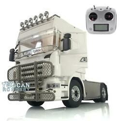 Lesu 1/14 4x4 Metal Chassis Bumper Light Radio Hercules Tractor Truck For Scania