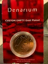 2015 Official Denarium Brass Physical Btc Coin Peeled Shipping Included