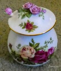 Royal Albert Jam Jar With Spoon Old Country Roses New In Box Rare