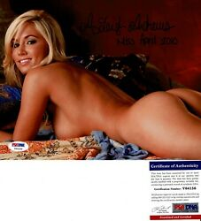 Amy Leigh Andrews Signed 8x10 Photo Playboy Miss April 2010 Psa Dna Coa