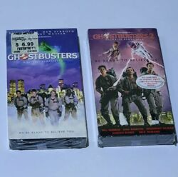 Factory Sealed Ghostbusters 1 And 2 Vhs Digitally Remastered W/ Watermarks