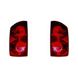 For Dodge Ram 1500 Tail Light 2007 2008 2009 Pair Rh And Lh Side Ch2800165