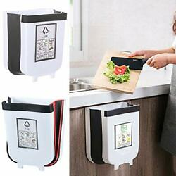 Yimodo 2.4 Gallon Capacity Hanging Trash Can For Kitchen Cabinet Door Collapsib