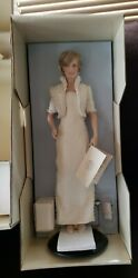 Diana Princess Of Wales Porcelain Doll Franklin Mint Never Removed From Box