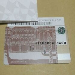 Starbucks Card Venice 2010 Edition Discoveries Rare Card Prize Limited