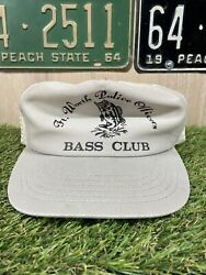 Vintage Fort Worth Texas Police Officers Bass Club Snapback Hat Cap
