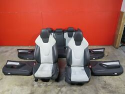 09-16 Audi A4 S4 B8.5 Front And Rear Leather And Alcantara Suede Seats W/ Door Panel