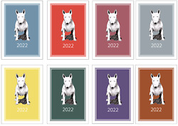 Bull Terrier 2022 A6 Week Per View Pocket Diary NORMAL or DOG SHOW DATES