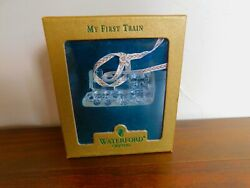 Waterford Crystal Christmas Ornament My First Train