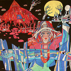 He De Guan Lady Thread Signed Artwork Chinese Asia Oriental Make Offer