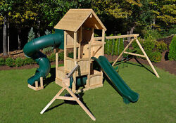 Triumph Play Systems White Cedar Swing Set - CANTERBURY DELUXE