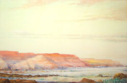 Harrison Baxter Traver Signed 1941 Original Early California Watercolor - Listed