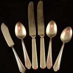 Sl And Gh Rogers Plain Silverplate 6 Pc.