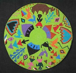 Bright Family African Zulu Telephone Wire Basket/plate - Perfect For Kwanzaa
