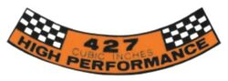 Ford 1967-1968 427 High Performance Air Cleaner Decal