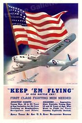 Keep And039em Flying Us Army Air Corps Ww2 War Poster - 16x24