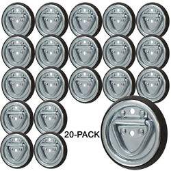 Surface Mount Tiedowns D-ring 1200 Lb.capacity 2-hole Tie Down 20-pack