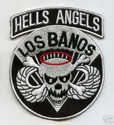 Us Army Airborne Hells Angels Los Banaos Death Head Iron-on Badge Patch
