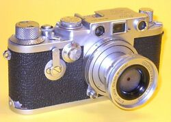 Leitz Leica Iiif Red Dial W/elmar 5cm 128 In Extremely Good Condition