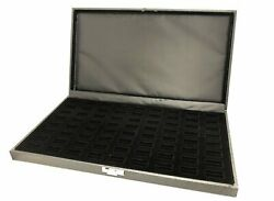 72 Slot Ring Display Case Organizer Covered Top Jewelry Storage Box Tray Holder