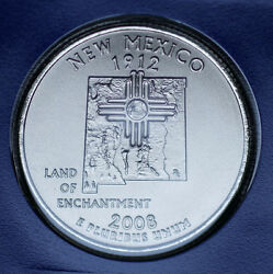 2008 P New Mexico Quarter Satin Mint Strike In Mint Wrap From Mint Set