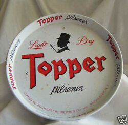 Topper Pilsner Beer Tray Rochester Brewing Co.3colorsee