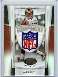Alex Smith 07 LCM JUMBO NFL SHIELD LOGO PATCH TRUE 1/1 Mirror Black NFL SHIELD