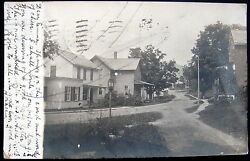 Troy New York 1907 House Residence Street Lamp Real Photo Pc Rppc