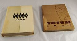 Lot Of 2 Vitnage Totem Yearbooks 1956 And 58 University Of Bristish Columbia N4b1