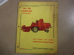 Massey Harris 90 Sp Combine Owners And Mantenance Manual