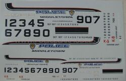 Code 3 1/43 And 1/24 Police Decals - Middletown Oh Ohio