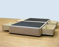 Platform Bed with storage drawers - Uphostered Storage Bed Frame Micro Fiber +