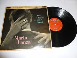 Mario Lanza - The Touch Of Your Hand - 1960 Uk Rca 'red Seal' Label 14-track Lp