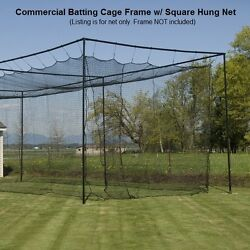 12and039 X 14and039 X 70and039 42 60 Ply Commercial Baseball Batting Cage Net W/door