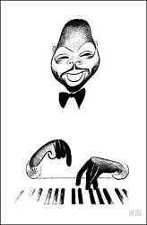 Al Hirschfeld's Count Basie Hand Signed Limited Edition Lithograph