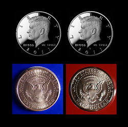2011 P+d+s+s Kennedy Half Dollar Mint Silver And Clad Proof Set Of Four