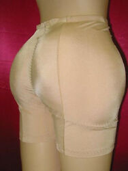 NEW!PADDED REAR BUTT+ HIPS ENHANCER SHAPER GIRDLE  XL8 NUDE