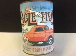 """Eagle Field Nostalgia Drags - """"iron Mistress"""" Willys Gasser Oil Can Bank"""