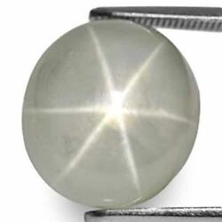 Burma Fancy Star Sapphire 14.87 Cts Natural Untreated Greyish White Oval