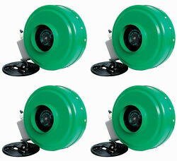 Active Air Acdf4 4 Inch Hydroponic Inline Fan With Brackets, 165 Cfm 4 Pack