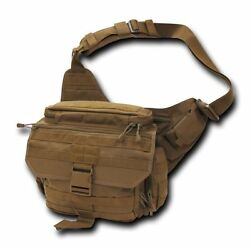 Brown Tactical Field Pack Messenger Bag Strap Military Army Hiking Gear Backpack