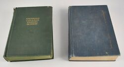 Lot Of 2 Vintage Dictionaries College Standard And Webster's 7th Collegiate Dd6b7