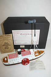 Tucher And Walther Tin Wind Up Ship Boat Toy German In Box L.e Rare 500 Made