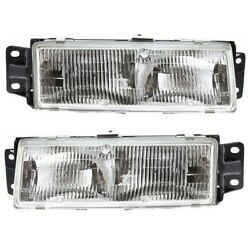 Headlight Set For 91-96 Oldsmobile Cutlass Ciera Left And Right With Bulb 2pc