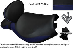 Navy Blue And Black Custom Fits Triumph Rocket 111 3 Dual Backrest Seat Cover