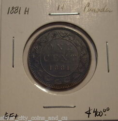 Canada Victoria 1881h Doubled Obv Legend Large Cent - Ef+