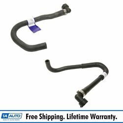 HVAC Inlet & Outlet Molded Heater Hose Pair Set of 2 for Volvo S60 S80 V70 XC70