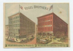 Vogel Brothers Clothing Stores Trade Card - Nyc - Rv Has How To Measure