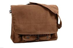 messenger canvas bag earth brown vintage paratrooper style rothco 9728 $24.99