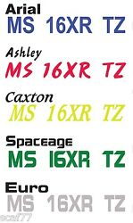 Custom Boat Jet Ski Pwc Registration Numbers Decal Stickers One Color